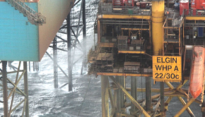 Elgin platform with gas leak close
